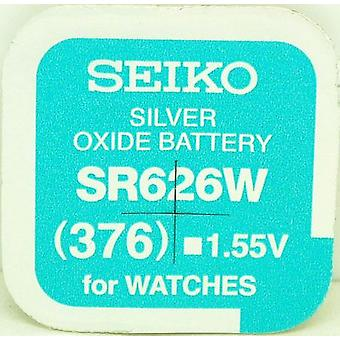Seiko 376 (sr626w) 1.55v Silver Oxide (0%hg) Mercury Free Watch Battery - Made In Japan