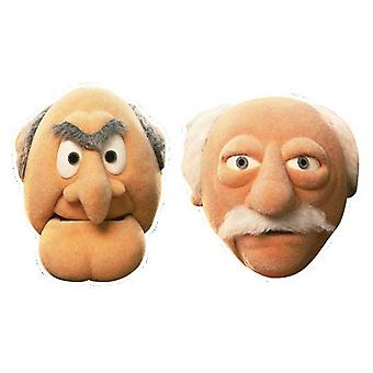 Statler and Waldor Card Face Mask Set of 2 (The Muppets)