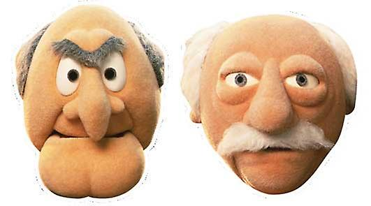 Statler e carta Waldor Face Mask Set di 2 (The Muppets)