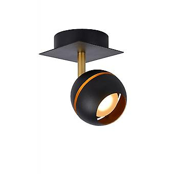 Lucide Binari Modern Square Metal Black Ceiling Spot Light