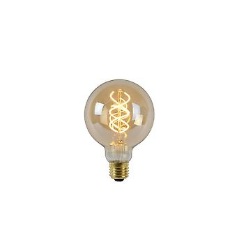 Lucide LED Bulb Shape: Round Glass Amber Filament Bulb