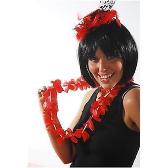 Hawai i tropikalny czerwony girlanda kwiat hawajski