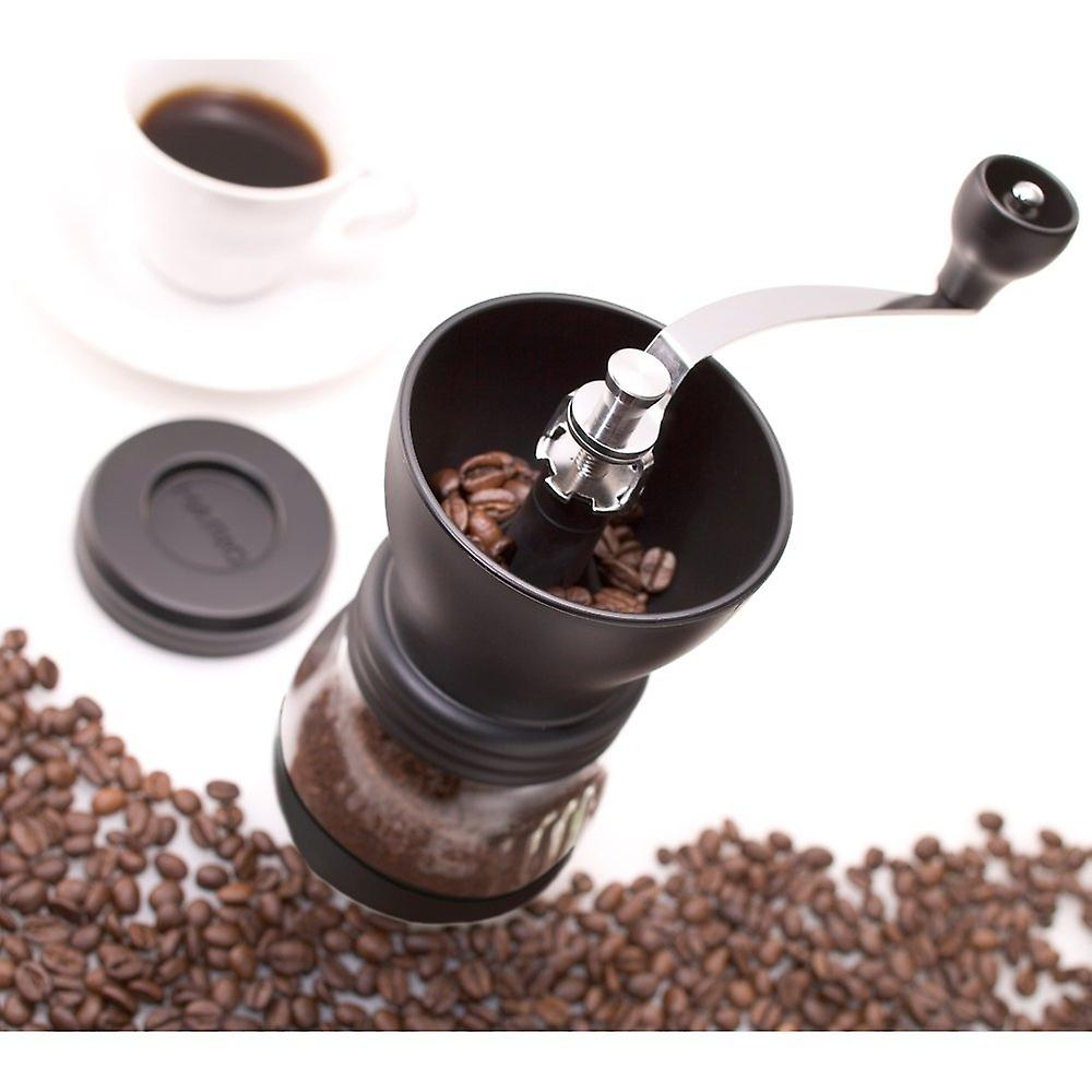 Medium Glass Hand Coffee Grinder with Ceramic Burrs Clear
