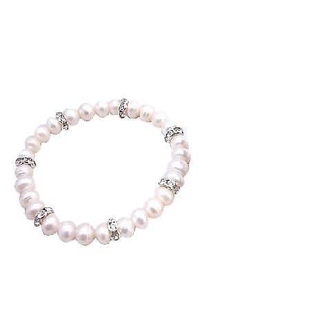 Flower Girl Jewelry Freshwater Pearls Potato Shaped Pearls Bracelet