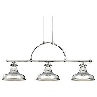 Emery Imperial Silver Three Light Chandelier - Elstead Lighting Qz / Emery3P IS