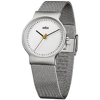براون ساعة اليد الكلاسيكية الكوارتز التناظرية المعصم ووتش الفولاذ المقاوم للصدأ BN0211WHSLMHL
