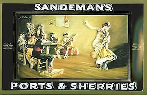 Sandeman Flamenco Dancer embossed steel sign