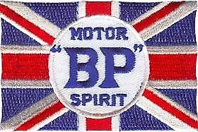 BP Motor Spirit iron-on / sew-on cloth patch   (ff)