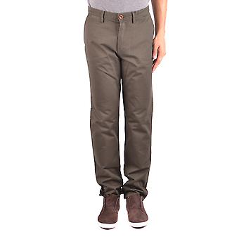 Fred Perry Green Cotton Pants