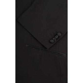 Добелл Мужская Черная 2 куска смокинг регулярные подходят шаль лацкан