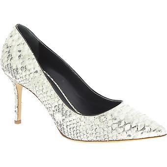 Giuseppe Zanotti Women's classic stiletto pumps in platinum python leather