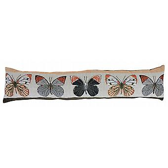 Contemporary Tapestry Draught Excluder: Butterflies