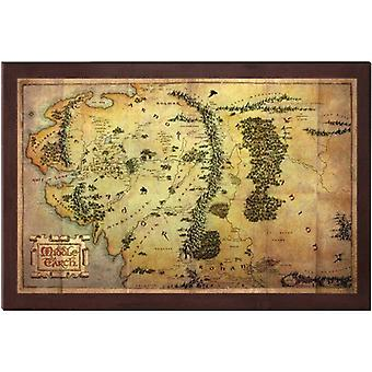 Der Hobbit 16 x 12 Inch Map of Middle Earth