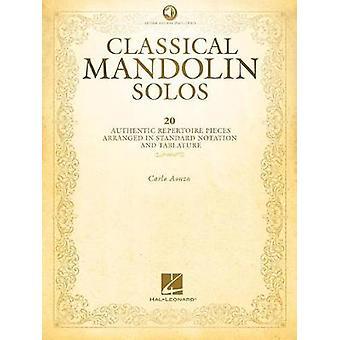 Classical Mandolin Solos (Book/Online Audio) - 9781480371002 Book