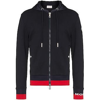 Moncler Blue Cotton Sweatshirt