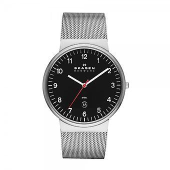 Skagen Ancher avslappnad svart & silver Watch SKW6051