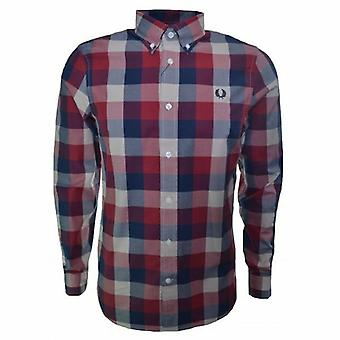 Fred Perry Men's Winter Twill Gingham Long Sleeve Shirt M7294-850