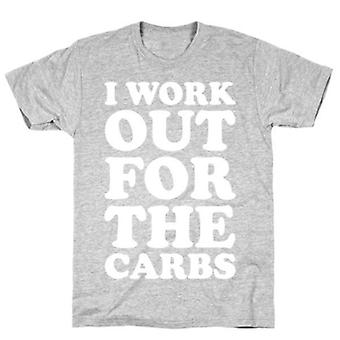 I workout for the carbs grey t-shirt