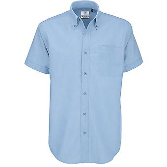 B&C Collection - B&C Oxford Short Sleeve Mens Shirt - Workwear Business Corporate