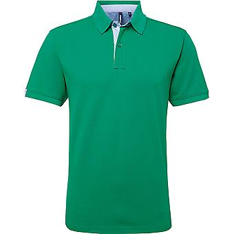 Asquith & Fox - Cotton Polo Shirt With Oxford Fabric Insert