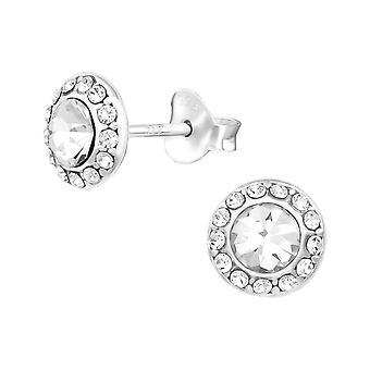 Brikkern - 925 Sterling sølv Crystal øret knopper - W23278X