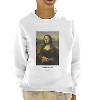 A.P.O.H Mona Lisa Made In Florence Kid's Sweatshirt