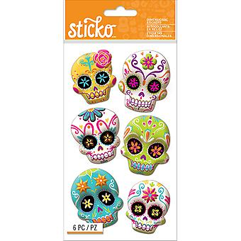 Sticko Halloween Stickers-Sugar Skull E5245027