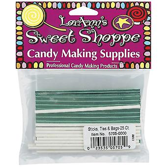 Sucker Sticks, Ties & Bags 25 Pkg 5705