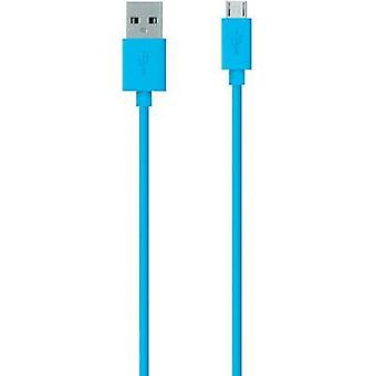 USB 2.0 Cable [1x USB 2.0 connector A - 1x USB 2.0 connector Micro B] 2 m Blue Belkin