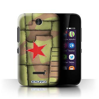 STUFF4 Case/Cover voor Nokia Asha 230/Sovjet/Groen/Airplane Fighter Wing