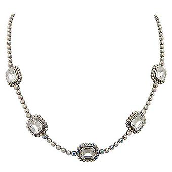 Butler & Wilson Mirror Stone on Round Crystal Chain Necklace