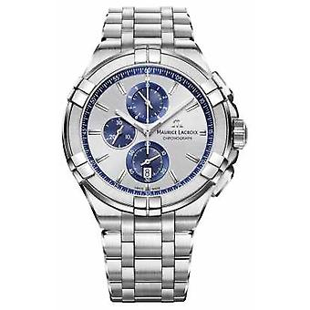 Maurice Lacroix Mens Aikon Stainless Steel Bracelet Silver Dial AI1018-SS002-131-1 Watch