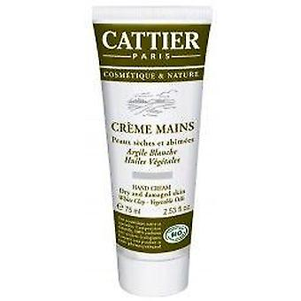 Cattier Hand Cream With Clay White 75 Ml (Beauty , Body  , Hands and Feet , Moisturizers)