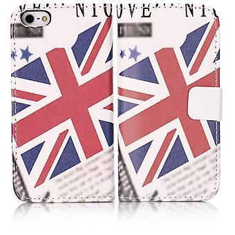 Täcka typ plånbok PU läder för australiska iPhone 5/5S