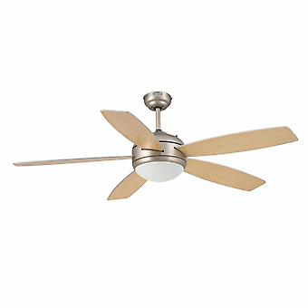 "Faro ceiling fan Vanu Nickel matt 132 cm / 52"" with lighting"