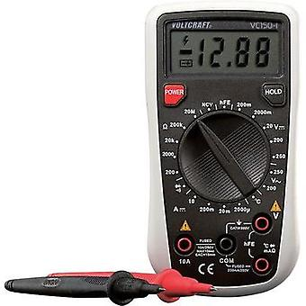 Handheld multimeter digital VOLTCRAFT VC150-1 (ISO) Calibrated to ISO standards CAT III 250 V Display (counts): 2000