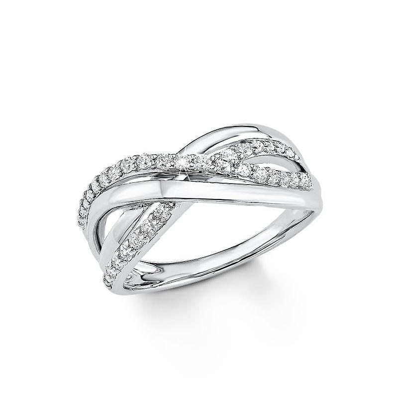 s.Oliver Jewel ladies ring silver Zirkonia SO1135