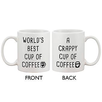 Funny Coffee Mug - Best Cup of Coffee, Crappy Cup of Coffee 11oz Mug Cup