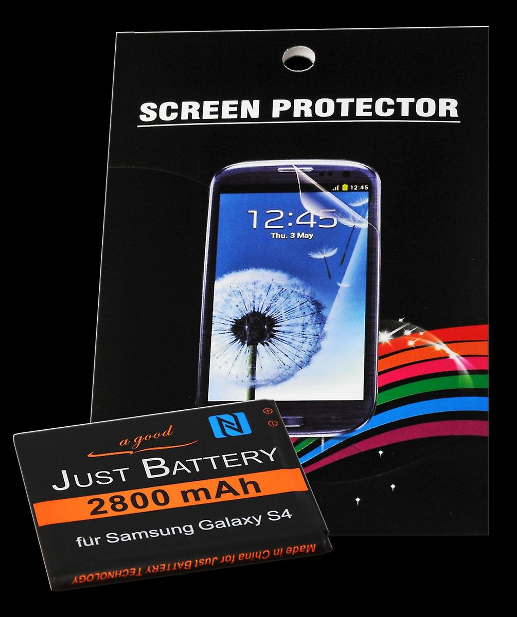 Battery + 4 x film for Samsung GT i9500 Galaxy S4