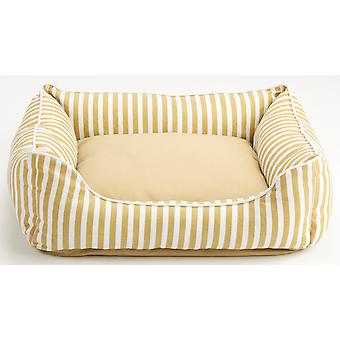 Dog Gone Smart Striped Lounger Bed Khaki 48x38cm