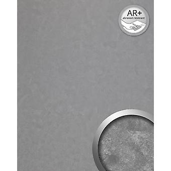 Wall Panel vintage look WallFace 19337 CLASSY SILVER cladding metal look shiny smooth adhesive abrasion resistant silver 2.6 m2