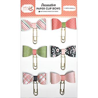 Rock-A-Bye Baby Girl Decorative Paper Clip Bows-  RBG63062