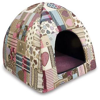 Arquivet Igloo Hearts And Stripes 45X45X40Cm (Cats , Bedding , Igloos)