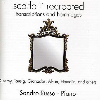 Sandro Russo - Scarlatti recreado: Transcripciones y homenajes [CD] USA importar