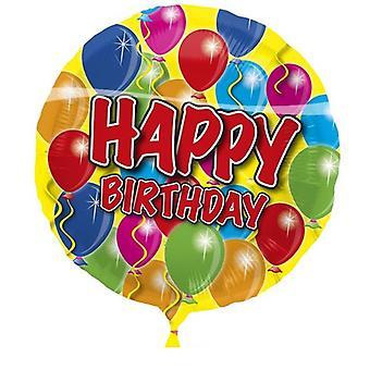 Folienballon Geburtstag Happy Birthday Heliumballon 43 cm Ballon