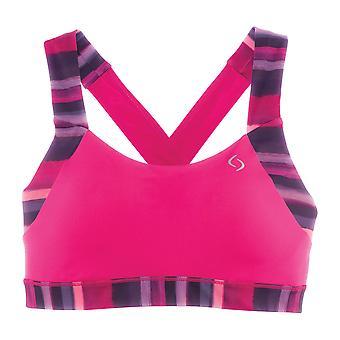 Bewegende comfort sport BH UpLift Kruis terug roze - 300616-653