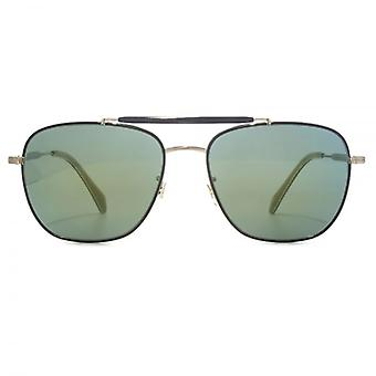 Paul Smith Roark Sunglasses In Onyx Brushed Silver