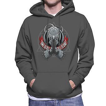 One Is All All Is One Fill Metal Alchemist Men's Hooded Sweatshirt