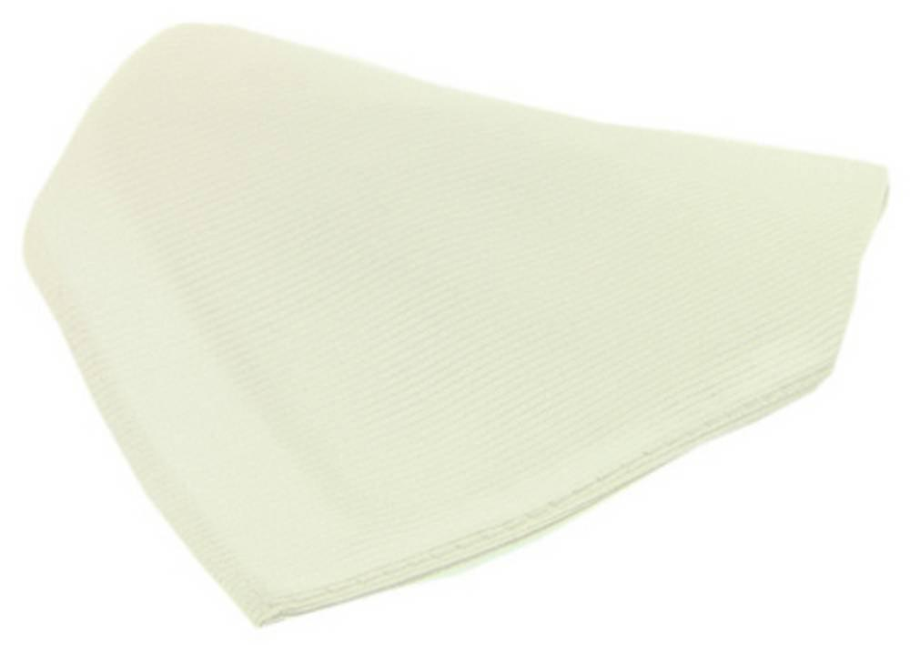 David Van Hagen Plain Diagonal Ribbed Woven Silk Handkerchief - White