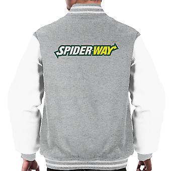 Spiderway Spiderman Homecoming t Mashup menn Varsity jakke
